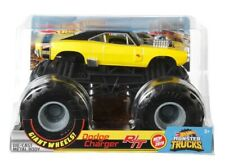 "HOT WHEELS MONSTER JAM ""DODGE CHARGER R/T""  YELLOW MONSTER TRUCK 1:24"
