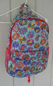 Paper Chase Pet Champz Backpack Book Bag Blue All Over Print Cartoon UK Co