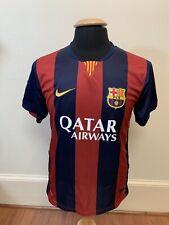Nike Dri-Fit Qatar Airways FC Barcelona Lionel Messi #10 2014 Home Jersey Size M