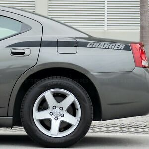 x2 Charger quarter panel accent side stripes decal fits Dodge Charger 2006-2010