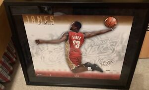 LeBron James Rookie Year Autographed 16X20- Signature Slam. LIMITED EDITION!!!