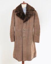 Shearling Mantel Coat PELZ FUR Kragen Collar Leder Leather Retro COOL #Menswear
