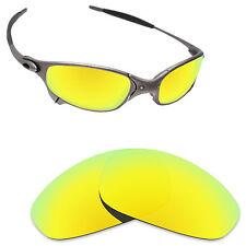 Hawkry Polarized Replacement Lenses for-Oakley Juliet Sunglass 24K Golden