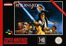 Nintendo SNES juego-Super Star Wars juego-Return of the Jedi con embalaje original