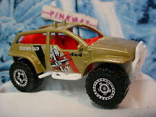2014 Matchbox Jungle Recon ~ 4 x 4 BUGGY ~ Gold/White; Red Interior~New Loose