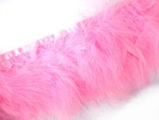 F464 PER 30cm-Light Pink Turkey Marabou Hackle Fluffy Feather Fringe Trim Craft