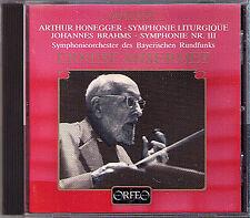 ANSERMET: BRAHMS Symphony No.3 HONEGGER Sinfonie Liturgique CD Ernest