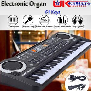 MUSICAL KEYBOARD PIANO 61 KEYS ELECTRONIC ELECTRIC DIGITAL BEGINNER KIDS SET