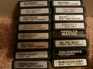 Atari 7800 Game Lot Clean Tested Label Variations Pick Your Favs Combo S&H