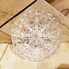 Clear Glass Candy Dish w/ Lid & Starburst Floral Geometric Pattern - Swanky Barn