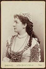 Emma Eames, American soprano, Opéra, Cabinet card, Photo Benque Paris