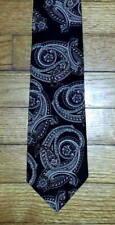 New Haven Neckwear Tie Silk Paisley Design Black Gray Maroon Ivory NIB t3857