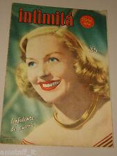 INTIMITA rivista 12 LUGLIO 1951 n. 280 = GRETA GYNT cover magazine =