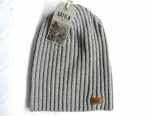 SETILA of SWEDEN Light Grey 100% Lambswool Beanie Toque Hat Rare Mens Womens