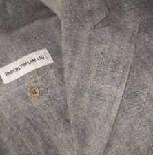 ICONIC Vintage Emporio Armani Peak Lapel 40R Gray Linen Sport Coat Jacket Blazer