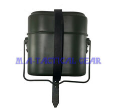 Repro WW2 WII Field Green German M31 Mess Kit Tin & Leather Strap