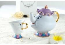 Beauty And The Beast Tea Set Mrs Potts Chip Teapot Ceramics Tea Pot + 1 Cup Gift