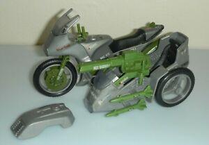 Lot 1985 GI Joe Silver Mirage Motorcycle Sidecar Missiles *Complete & Unbroken!