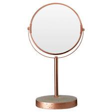 Bathroom Adjustable Swivel Round Mirror, Shaving, Make Up, Concrete & Copper