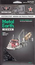 Fascinations Metal Earth ICONX WESTERN STAR 4900SB LOG TRUCK & TRAILER Model Kit