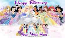 Birthday banner Personalized 4ft x 2 ft Disney Princesses