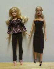 "11 1/2"" Doll Clothing Multicolored Top plus Brown Pants and Strapless Dress"