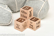New Born Baby Gift Personalised Big Building Blocks Christening Gift, 60mm