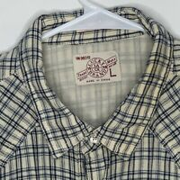 Lucky Brand Mens Shirt Pearl Snaps Plaid Flannel LS Large
