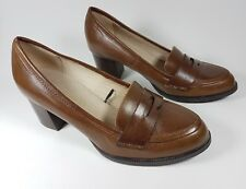Next Sole Reviver brown leather mid heel shoes uk 6 eu 39 super condition