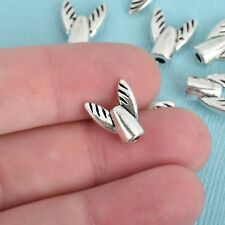 10 Silver Travel Airplane Spacer Beads, 13mm x 11mm, bme0444a
