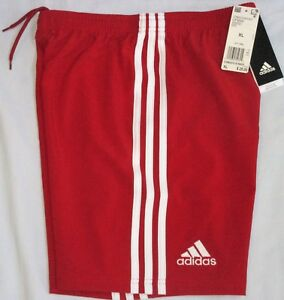 NWT Youth XL ADIDAS Condivo 18 SOCCER Football SHORTS CF0694, Boys RED WHITE 176