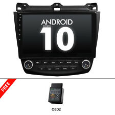 """OBD+For Honda Accord 7 2003-2007 10.1""""Android 10 Stereo Car Radio GPS MP5 Player"""
