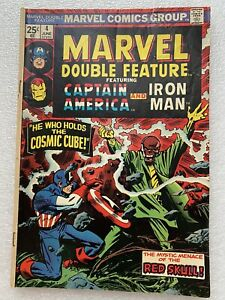 MARVEL DOUBLE FEATURE #4 (1974) CAPTAIN AMERICA IRON MAN RAW BOOK MID GRADES