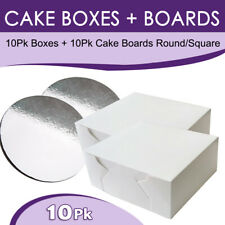 Cake Boxes Wedding Tall Display Box 25 Different Size + Cake Boards Birthday Box