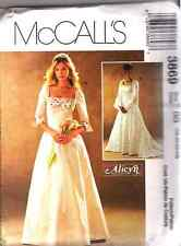 """McCall's 3869 OOP """"Alicyn Exclusives"""" Bridal Gowns Pattern Sizes 18-20-22-24"""