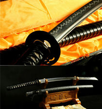41' DAMASCUS FOLDED STEEL CLAY TEMPERED JAPANESE SAMURAI SWORD KATANA
