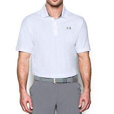 Under Armour  (SZ XL ) Mens Performance Cotton Polo- WHITE  NEW
