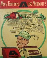 Vintage Armour's Crop Fertilizer Advertisement Tractor Farming Calendar 1954