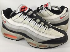 Nike Air Max 95 White Hot Lava Black Granite Mens Size 9 Rare 609048-182 Running