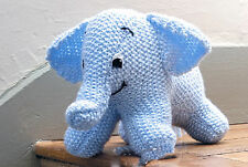 KNITTING Pattern- Easy Knit baby elephant pattern in moss stitch- Aran wool