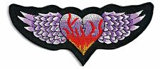 BEAUTIFUL PURPLE WINGS with HEART - IRON or SEW-ON PATCH