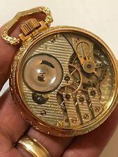 """RARE Illinois G 187 16S 17J Railroad Pocket Watch Display Salesman """"RR Standard"""""""