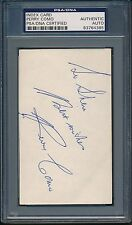 Perry Como Index Card PSA/DNA Certified Authentic Auto Autograph Signed *4385