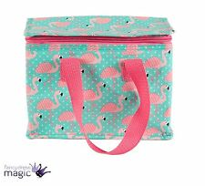 Sass & Belle Insulated Recycled Lunch Box Cool Picnic Bag Flamingo Tropical Gift