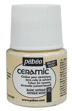 Pebeo Ceramic Porcelain China Terracotta Paint 45ml Enamel Finish - 30 Colours Antique White 32