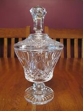Gorgeous Ferrycarrig Signed Irish Crystal Covered Candy Dish With Label