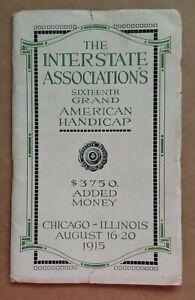 1915 Interstate Association Trapshooting Tournament Program -- Chicago, Illinois