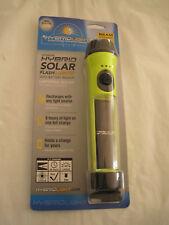 Hybridlight Solar Powered w/Battery Backup Waterproof Flashlight-new