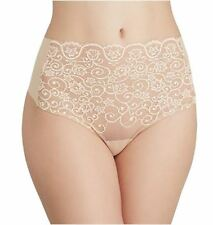 Commando Women's High Rise Thong Panty Cross Dyed Ivory Size S/M
