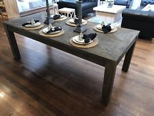 Dining Table Recycled Elm Hardwood 220cms French Provincial Rustic
